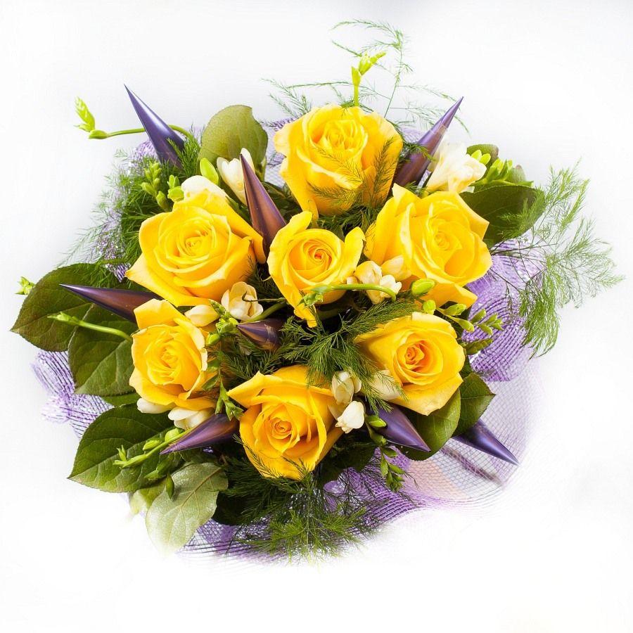 "Букет цветов ""Янтарный свет"""